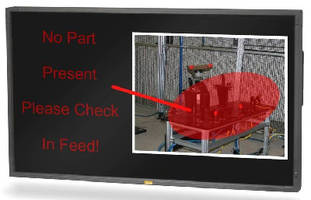 Flat Panel Display delivers critical, real-time messages.