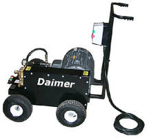 Cold-Water Pressure Washer has wet-sandblasting system.
