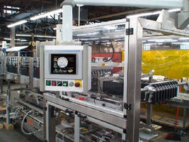 Case Packer has color touchscreen operator interface.