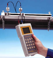 Ultrasonic Flow Meter measures flow from outside of pipe.