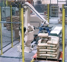 Robotic Palletizer has a small footprint.