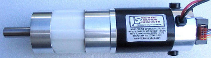 DC Gearmotor (24 V) develops 50 lb-in. torque at 110 rpm.