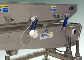 Wireless System monitors vibratory conveyors.