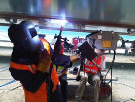 Overhead (4G) Welding on a New Bridge in Scotland with Gullco KAT