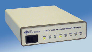 Interface adds Ethernet instruments to GPIB test systems.