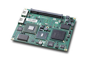 Computer-on-Module supports SATA SSD and DDR2 memory.