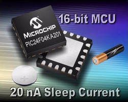MCUs feature low-power 20 nA sleep currents.