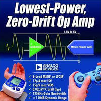 Chopper Stabilized Op Amp prolongs battery life.