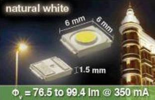 Natural White LED provides 25,000 mcd luminous intensity.