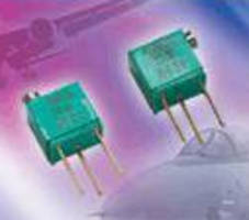 Potentiometers feature Bulk Metal Foil resistive element.