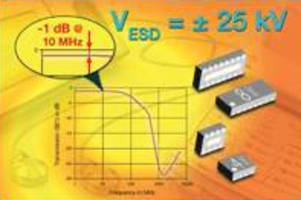 EMI/ESD Filter Arrays feature less than 1 dB input loss.