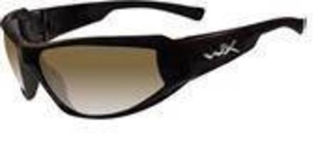 Protective Eyewear features light adjusting brown lenses.