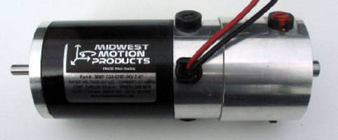 DC Servo Motor features integral analog tachometer.