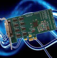 PCI Express Card features eight RS-232 ports.