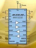 RS-232 Transceiver integrates ±70 V fault protection.