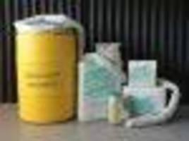 Absorbent helps clean up Hazmat spills.