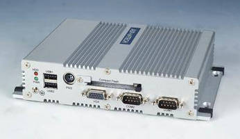 Embedded PC features compact, fanless aluminum case.