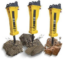 Hydraulic Breaker offers optimal percussive power.