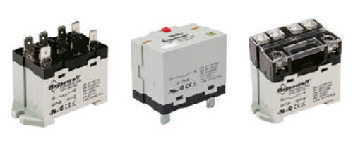 Power Relays offer ratings up to 3 hp, 30 A.