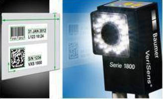 Vision Sensors identify various codes, printed characters.