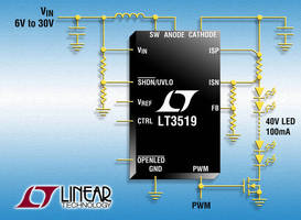 DC/DC Converter drives high-current LEDs.