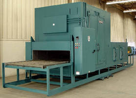 Conveyorized Tunnel Oven is electrically heated to 350°F.