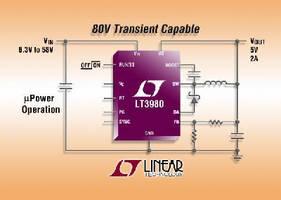 DC/DC Converter draws 85 µA of quiescent current.