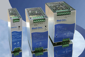 DIN Rail Power Supplies deliver up to 20 A.