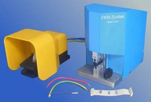 Pneumatic Wire Crimp Press has portable, versatile design.
