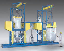 Bulk Bag Eductor loosens and discharges bulk solid material.