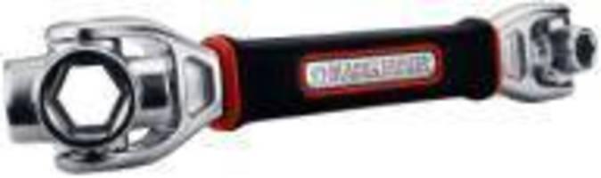 Socket Wrench accommodates 16 socket sizes.