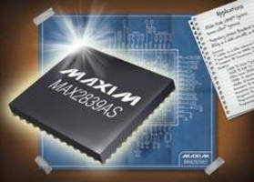 RF Transceiver has dual receivers to minimize channel fading.