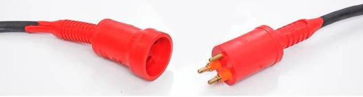 Multipin, Rubber-Molded Plugs are IP68-rated.