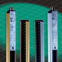 Safety Light Curtains provide max sensing range of 26 ft.