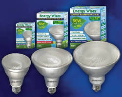 Compact Fluorescent Bulbs offer direct replacement for Halogen PARs.
