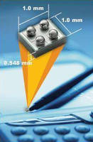 Power MOSFETs feature dimensions of 1 x 1 x 0.548 mm.