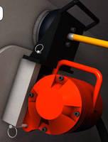 Railroad Car Vibrator employs pressure lock system.