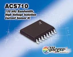 Current Sensor IC provides high voltage isolation.