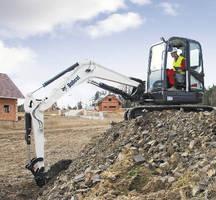 Excavator helps maximize operator comfort.