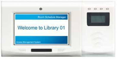 Access Management System features 7 in. LCD touchscreen.