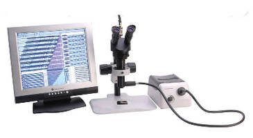 Monocular Zoom Microscope uses coaxial light for inspection.