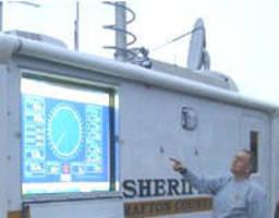 Big Screen Emergency Vehicle Weather Monitor