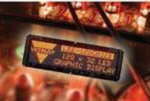 LED Graphics Displays feature 128 x 32 pixels.