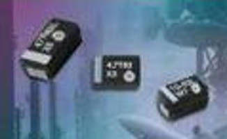 Solid Tantalum Chip Capacitors offer ratings up to 63 V.