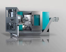 Turning/Milling Center handles 2 parts simultaneously.