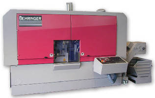 Bandsaw promotes efficient, precision cutting of aluminum.