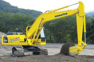 Hybrid Excavator helps minimize greenhouse gas emissions.
