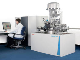 Spectrometer performs chemical surface characterization.