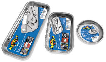 Magnetic Trays keep small metal parts securely in place.