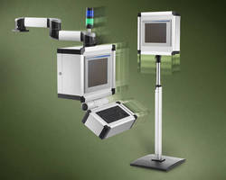 Suspension System supports HMI enclosures up to 281 lb.
